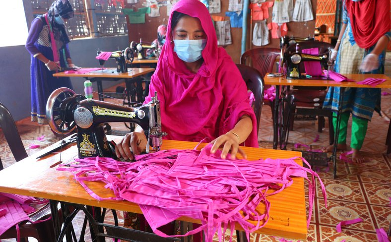 Rohingya woman garment worker COVID-19 Bangladesh
